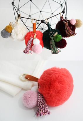 配色毛球&流苏元素挂件