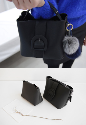 扣带修饰两用子母包